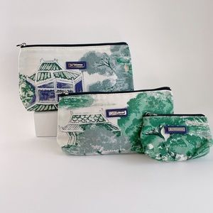 Jim Thompson Cosmetic Pouches Set of 3